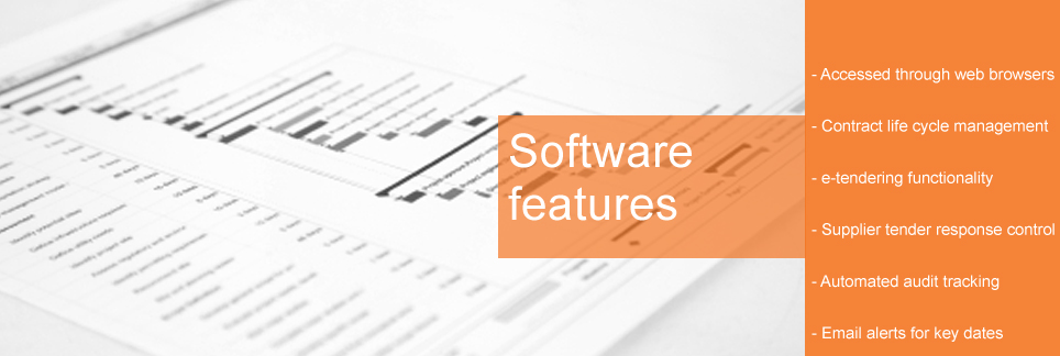 Online software for contract management and procurement